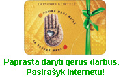 Donoro kortelė internetu